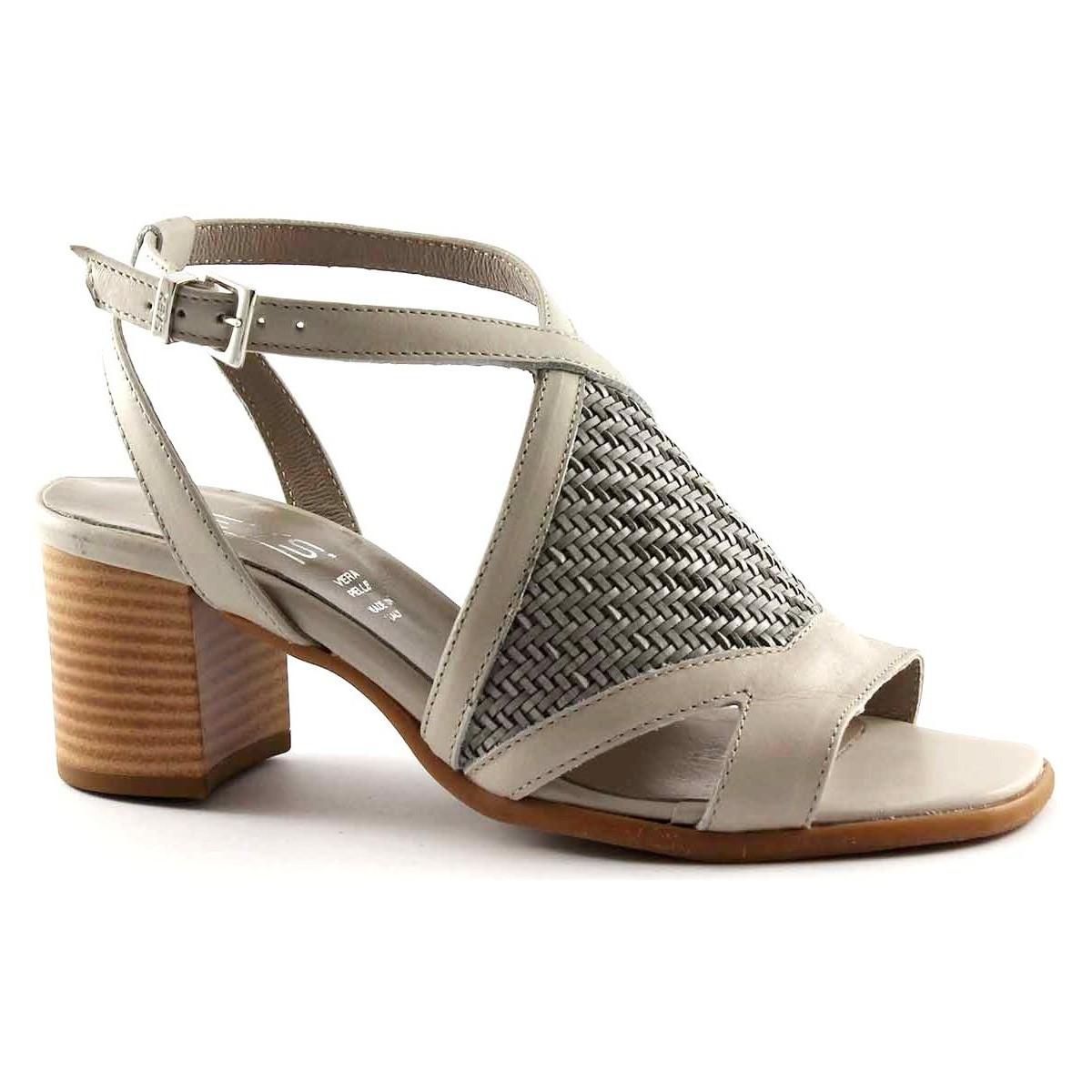 Keys Sandalen 5411 graue Schuhe Frau Schuhriemen Verwebung jetztbilligerkaufen