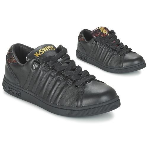 K-Swiss LOZAN TONGUE TWISTER Schwarz / Gold Schuhe Sneaker Low Damen 70