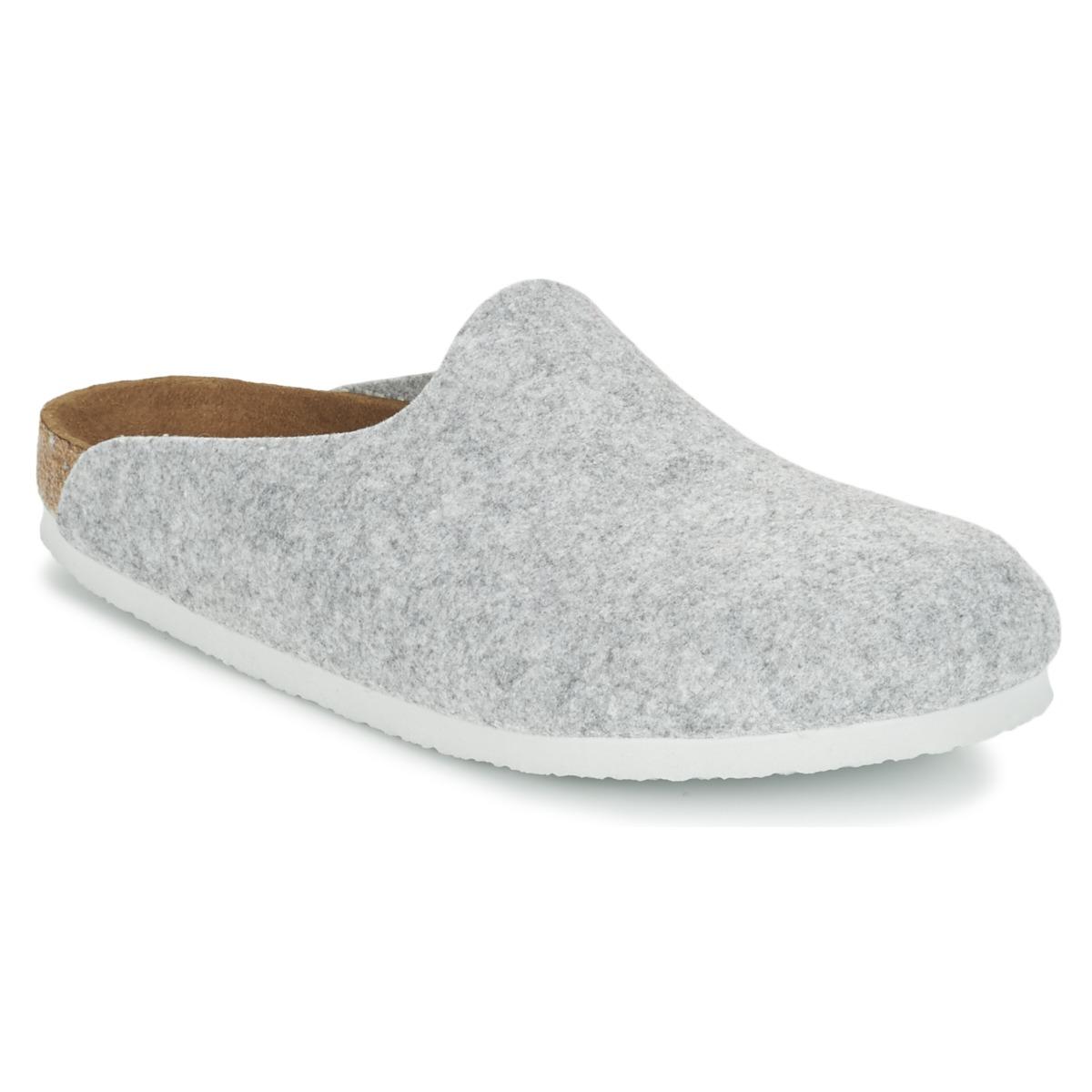 Birkenstock AMSTERDAM Grau - Kostenloser Versand bei Spartoode ! - Schuhe Pantoletten / Clogs Damen 47,99 €