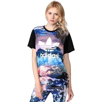 Kleidung Damen T-Shirts adidas Originals Originals Mountain Clash Schwarz