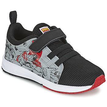 Schuhe Kinder Sneaker Low Puma Carson Runner Superman V Kids Schwarz / Grau
