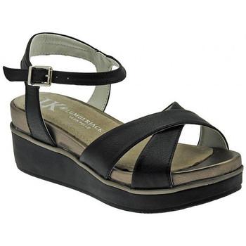 Schuhe Damen Sandalen / Sandaletten Lumberjack Bianca sandalo fascia incrocia cinturino wedge