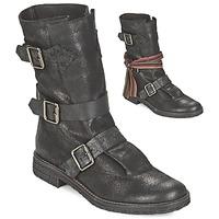Schuhe Damen Boots Felmini CREPONA Schwarz