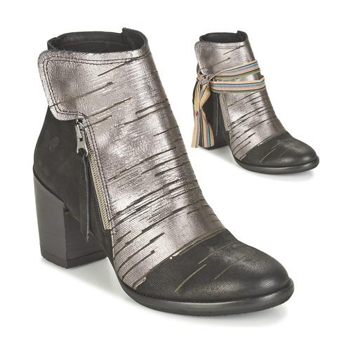 Felmini CARMEN Schwarz / Silbern Schuhe Low Boots Damen 70