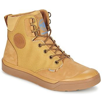 Schuhe Herren Boots Palladium PALLARUE WP Honig