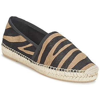 Schuhe Damen Leinen-Pantoletten mit gefloch Marc Jacobs SIENNA Schwarz / Camel