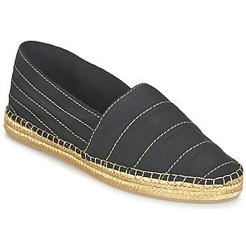 Schuhe Damen Leinen-Pantoletten mit gefloch Marc Jacobs SIENNA Schwarz / Gold