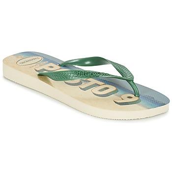 Schuhe Herren Zehensandalen Havaianas POSTO CODE Grün / Blau