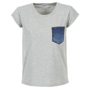Kleidung Damen T-Shirts Mustang SLV DENIM POCKET Grau