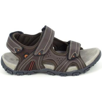 Schuhe Herren Sandalen / Sandaletten Elementerre Akka Marron Braun