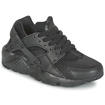 Schuhe Kinder Sneaker Low Nike HUARACHE RUN JUNIOR Schwarz