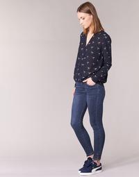Kleidung Damen Slim Fit Jeans Yurban FOLDINE Blau