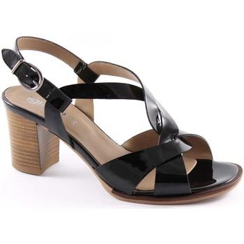 Schuhe Damen Sandalen / Sandaletten Igi&co IGI & CO 18720 schwarzem Lackleder Heel Sandalen Schuhe Frau Nero