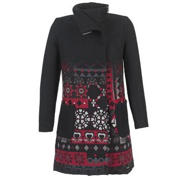 Kleidung Damen Mäntel Desigual JEFINITE Schwarz / Rot