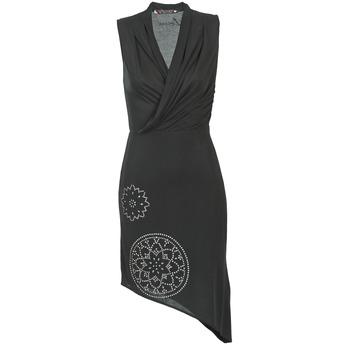 Kleidung Damen Kurze Kleider Desigual RAZIANA Schwarz