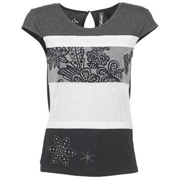 Kleidung Damen T-Shirts Desigual KITEPI Weiss / Grau / Schwarz