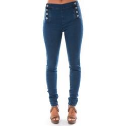 Kleidung Damen Slim Fit Jeans Dress Code Jean Demin Avenue  15HP006-2 Blau