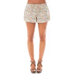 Kleidung Damen Shorts / Bermudas Little Marcel Short Simeon Blanc Imprimé Weiss