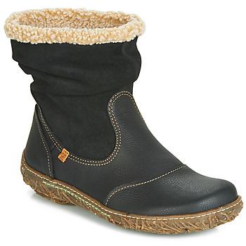 Schuhe Damen Boots El Naturalista NIDO Schwarz