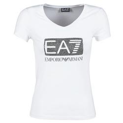 Kleidung Damen T-Shirts Emporio Armani EA7 FOUNAROLA Weiss