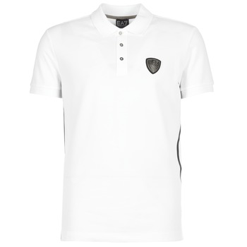 Kleidung Herren Polohemden Emporio Armani EA7 ONTRAFOL Weiss