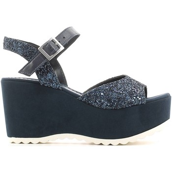 Schuhe Damen Sandalen / Sandaletten Grace Shoes 220F3C Wedge sandals Frauen Blue