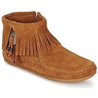 Schuhe Damen Boots Minnetonka CONCHO FEATHER SIDE ZIP BOOT Braun