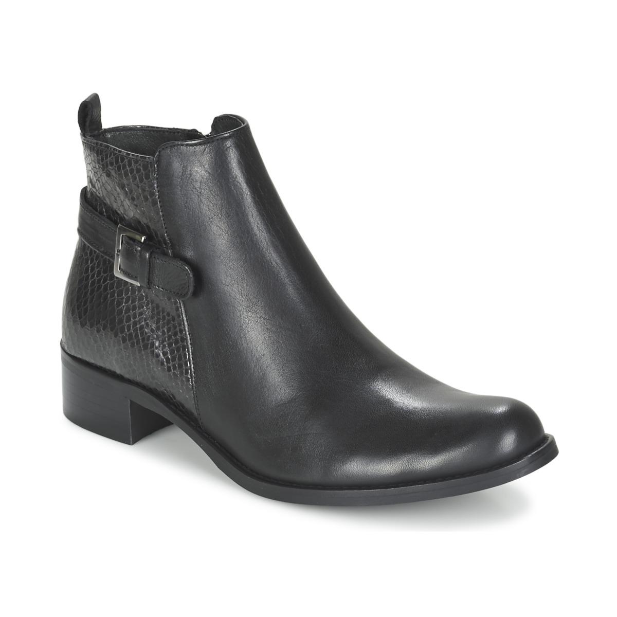 Betty London FEWIS Schwarz - Kostenloser Versand bei Spartoode ! - Schuhe Boots Damen 69,00 €