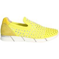 Schuhe Damen Slip on Florens F1330 Gelb