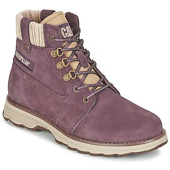 Schuhe Damen Boots Caterpillar CHARLI Violett