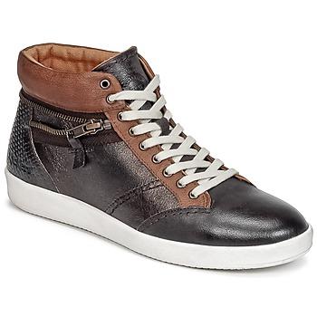 Schuhe Damen Sneaker High Kickers HAPPYZIP Braun / Mettalfarben
