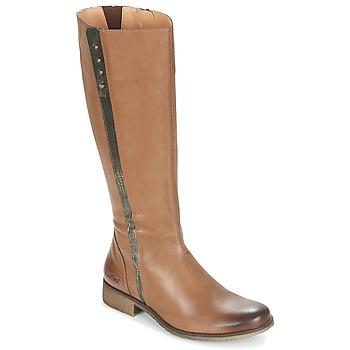Schuhe Damen Klassische Stiefel Kickers LONGBOTTE Braun / Gold