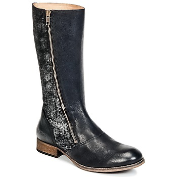 Schuhe Damen Klassische Stiefel Kickers PENNYHO Schwarz / Leuchtend