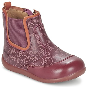 Schuhe Mädchen Boots Kickers BIGOR Bordeaux / Orange