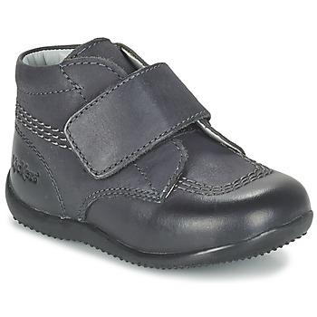 Schuhe Kinder Boots Kickers BILOU Schwarz