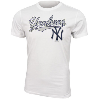 Kleidung Herren T-Shirts New Era MLB New York Yankees Script tee Weiss