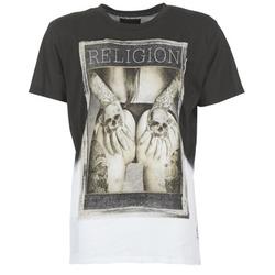 Kleidung Herren T-Shirts Religion GRABBING Weiss / Schwarz
