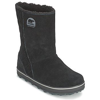 Schuhe Damen Schneestiefel Sorel GLACY Schwarz