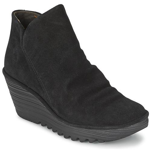 Fly London YIP Schwarz  Schuhe Boots Damen 54,50