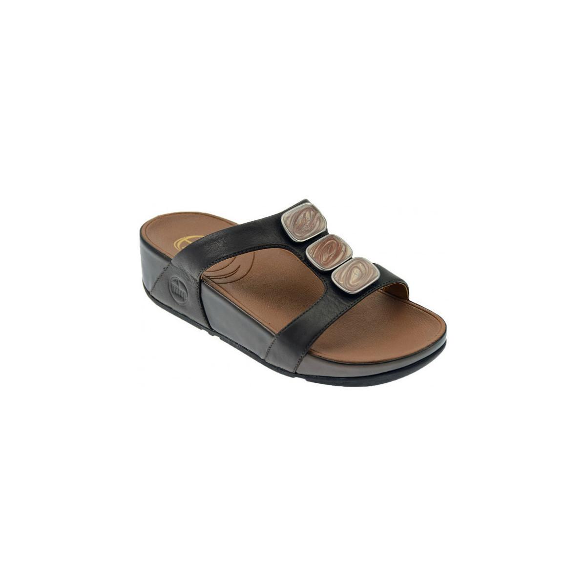FitFlop Pietra due slide ciabatta fascia sandale  - Schuhe Sandalen / Sandaletten Damen 79,90 €