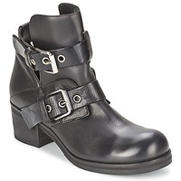 Schuhe Damen Low Boots Strategia CRECA Schwarz