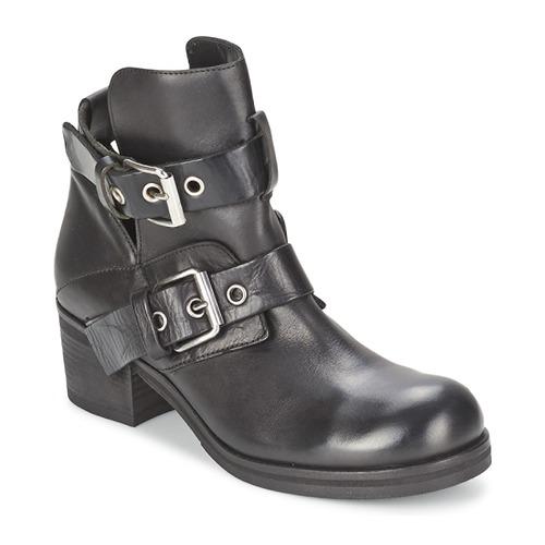 Strategia CRECA Schwarz Schuhe Low Boots Damen 182