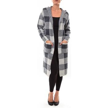 Kleidung Damen Strickjacken De Fil En Aiguille Cardigan long K100 gris Grau