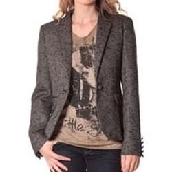 Kleidung Damen Anzugjacken Rich & Royal Rich&Royal Blazer OVER Chiné Noir 13q801/999 Schwarz