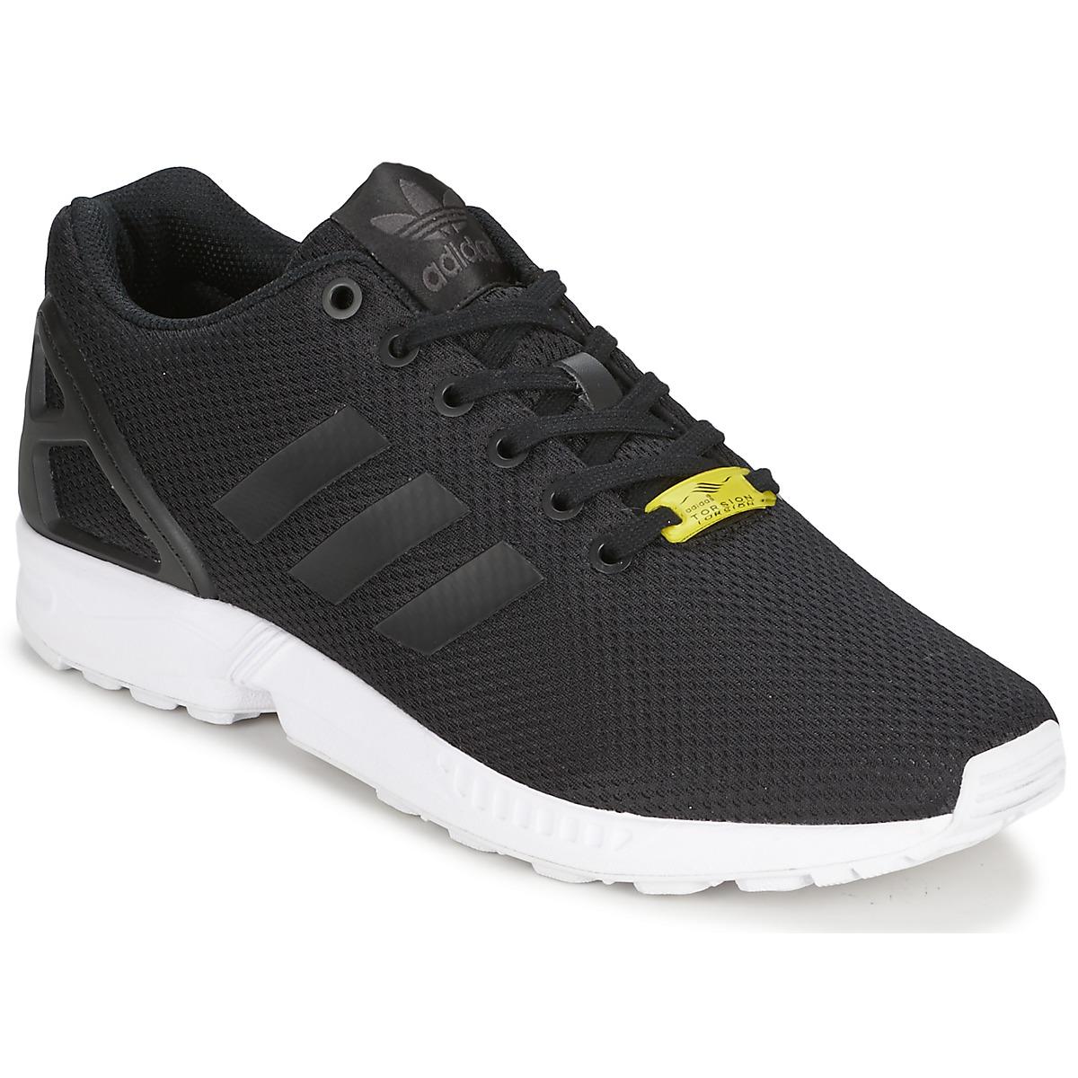adidas Originals ZX FLUX Schwarz / Weiss - Kostenloser Versand bei Spartoode ! - Schuhe Sneaker Low  76,00 €