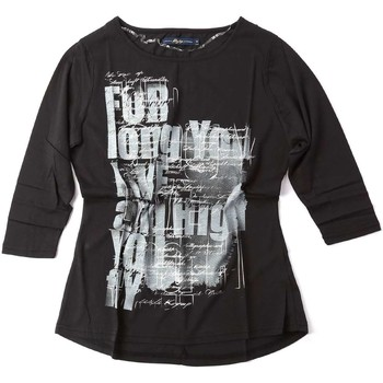 Kleidung Damen Langarmshirts Key Up S78Z 0001 T-shirt Frauen Black