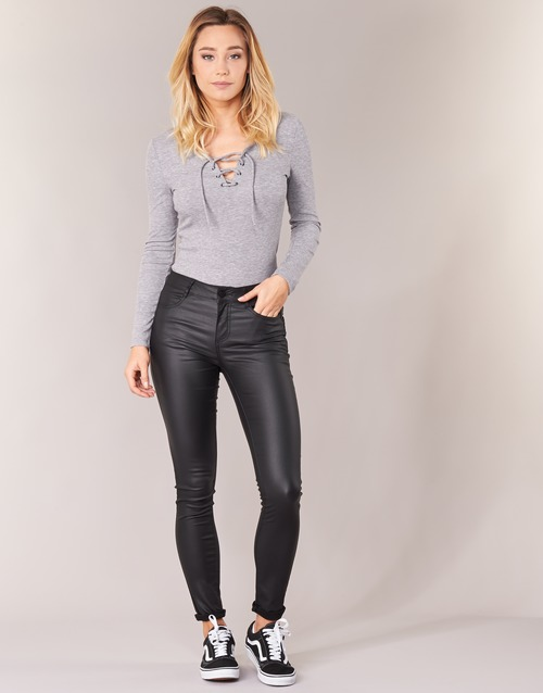 Kleidung Damen 5-Pocket-Hosen Vila VICOMMIT Schwarz