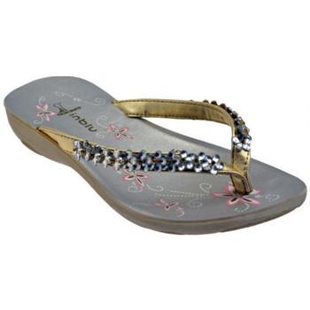 Schuhe Damen Zehensandalen Inblu SY7 Strass flip flop zehentrenner