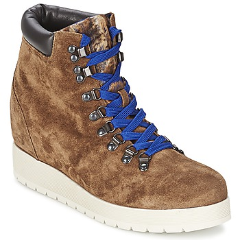 Schuhe Damen Low Boots Alberto Gozzi VELOUR MARRONE Braun
