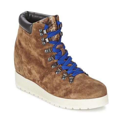 Alberto Gozzi VELOUR MARRONE Braun  Schuhe Low Damen Boots Damen Low 180 f9ab20